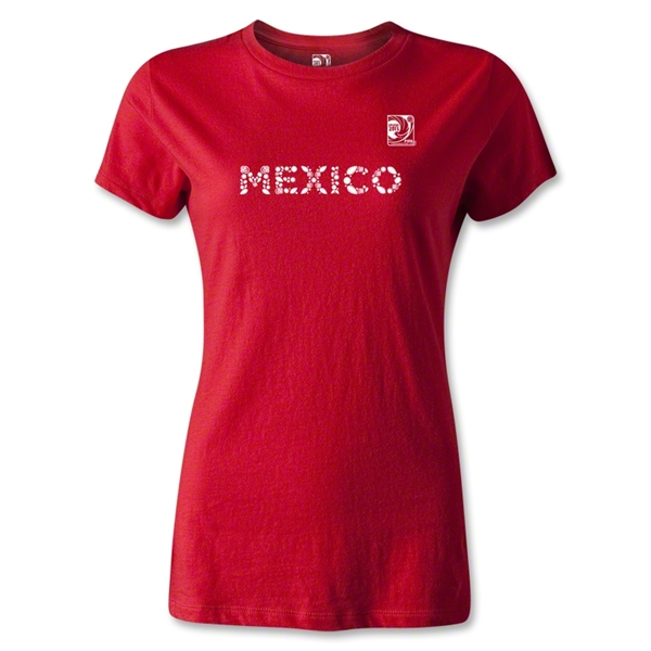 FIFA Confederations Cup 2013 Women's Mexico T-Shirt (Red)