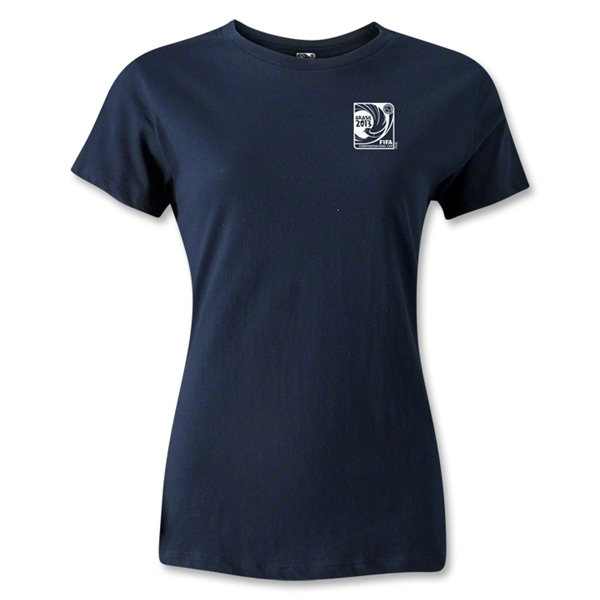 FIFA Confederations Cup 2013 Women's Small Emblem T-Shirt (Navy)