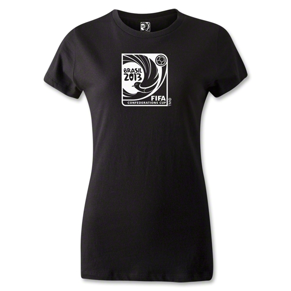 FIFA Confederations Cup 2013 Women's Emblem T-Shirt (Black)