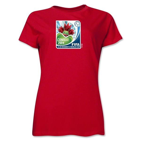 FIFA U-20 Women's World Cup Canada 2014 Women's Core T-Shirt (Red)