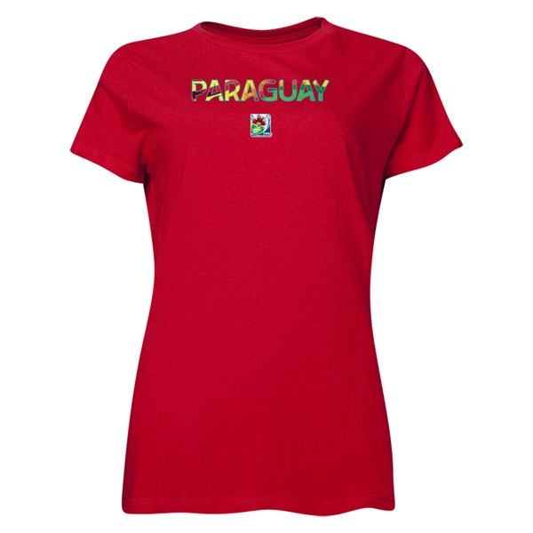 Paraguay FIFA U-20 Women's World Cup Canada 2014 Women's Core T-Shirt (Red)