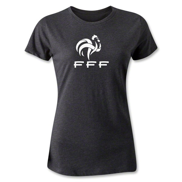 France FFF Women's T-Shirt (Dark Gray)
