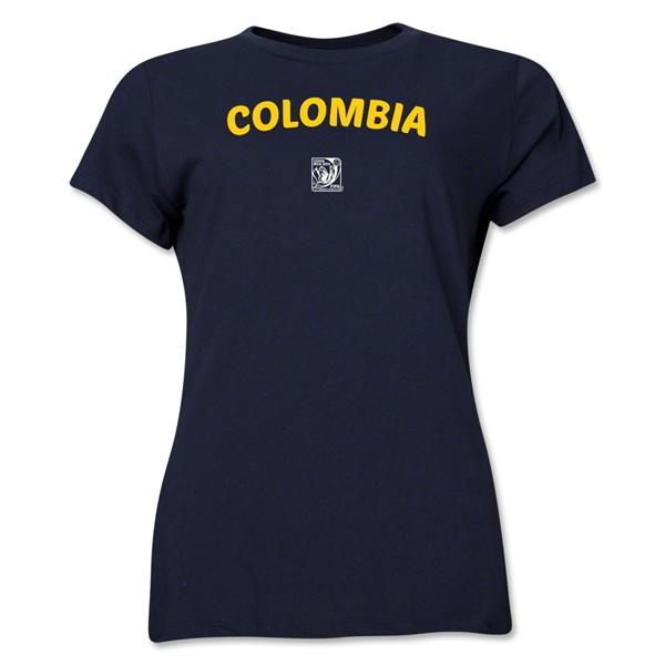 Colombia FIFA U-17 Women's World Cup Costa Rica 2014 Women's Core T-Shirt (Navy)