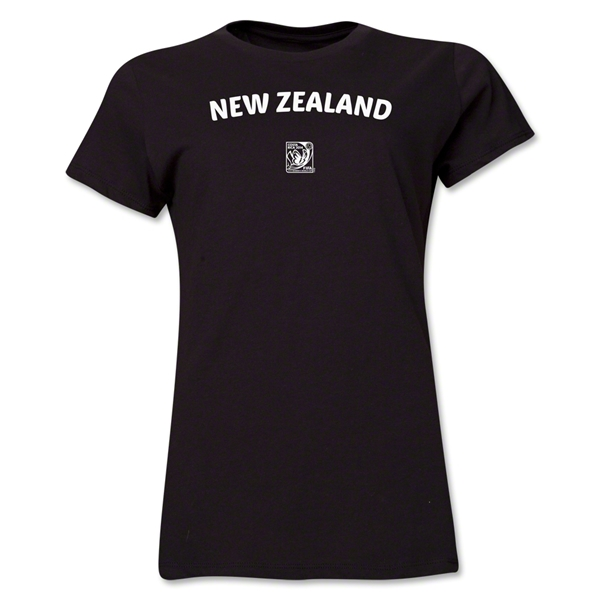 New Zealand FIFA U-17 Women's World Cup Costa Rica 2014 Women's Core T-Shirt (Black)