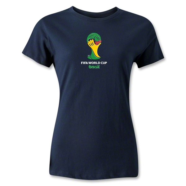 2014 FIFA World Cup Brazil(TM) Emblem Women's T-Shirt (Navy)