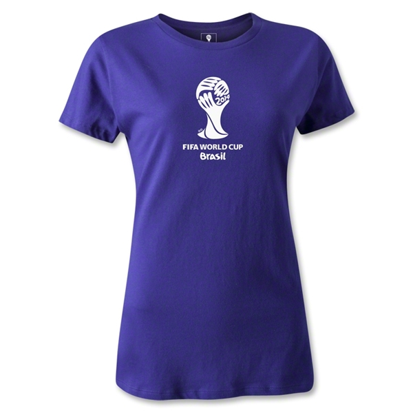 2014 FIFA World Cup Brazil(TM) Women's Emblem T-Shirt (Purple)