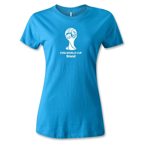 2014 FIFA World Cup Brazil(TM) Women's Emblem T-Shirt (Turquoise)