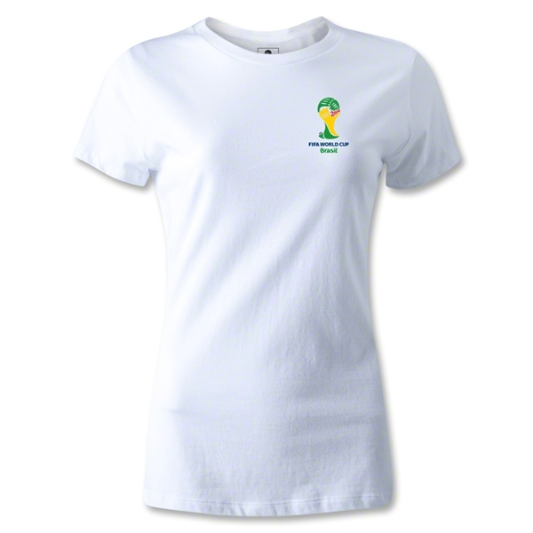 2014 FIFA World Cup Brazil(TM) Women's Emblem T-Shirt (White)