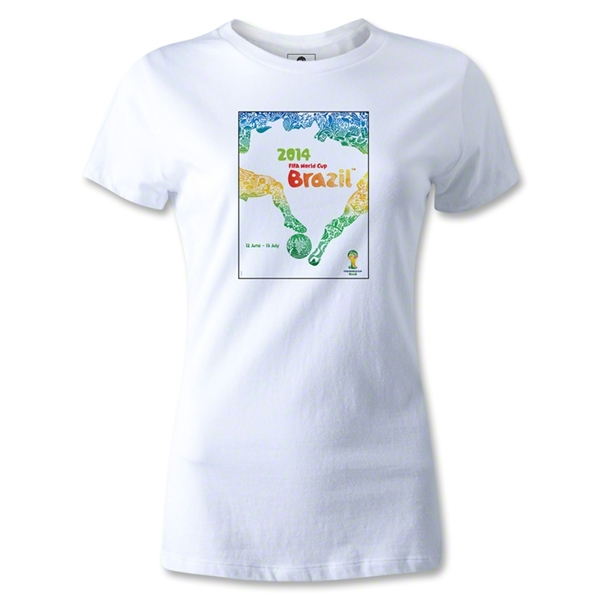 Official Event Poster 2014 FIFA World Cup Brazil(TM) Women's T-Shirt (White)