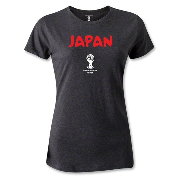 Japan 2014 FIFA World Cup Brazil(TM) Women's Core T-Shirt (Dark Gray)