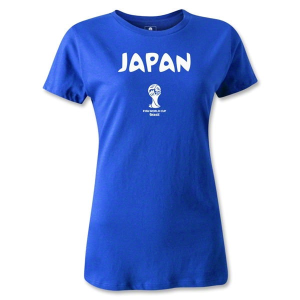 Japan 2014 FIFA World Cup Brazil(TM) Women's Core T-Shirt (Royal)