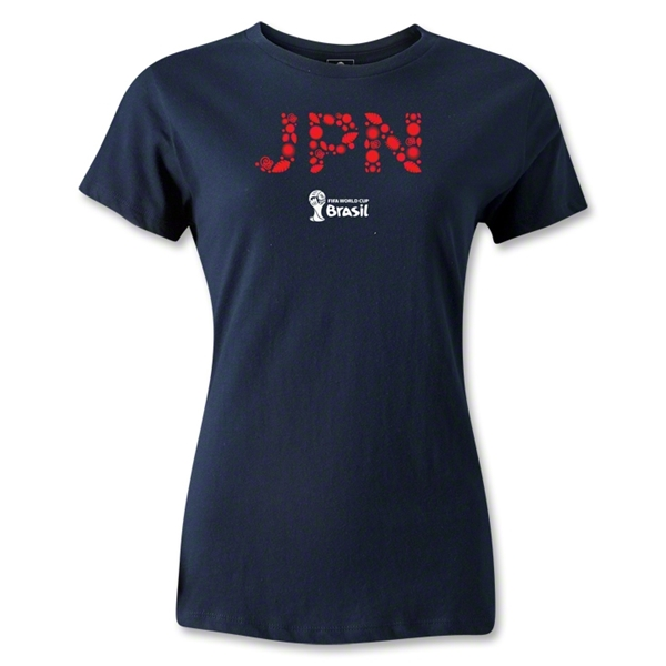 Japan 2014 FIFA World Cup Brazil(TM) Women's T-Shirt (Navy)