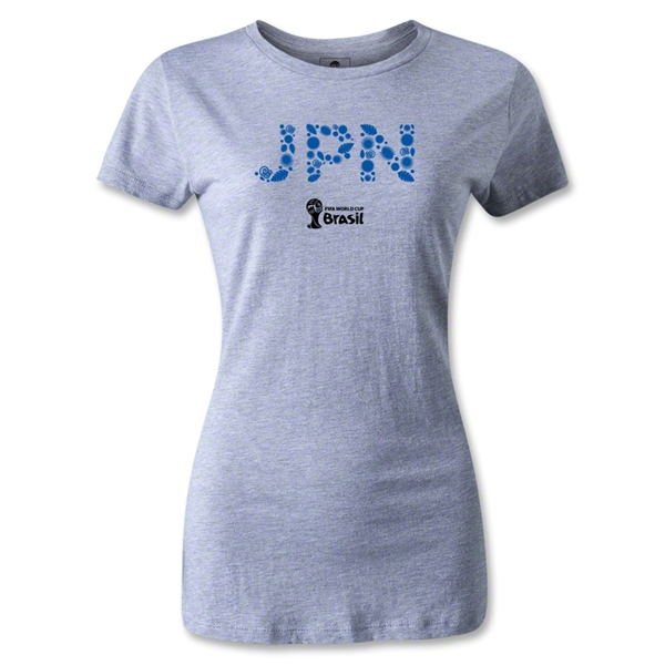 Japan 2014 FIFA World Cup Brazil(TM) Women's T-Shirt (Gray)