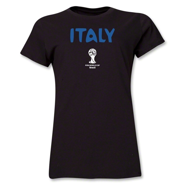 Italy 2014 FIFA World Cup Brazil(TM) Women's Core T-Shirt (Black)