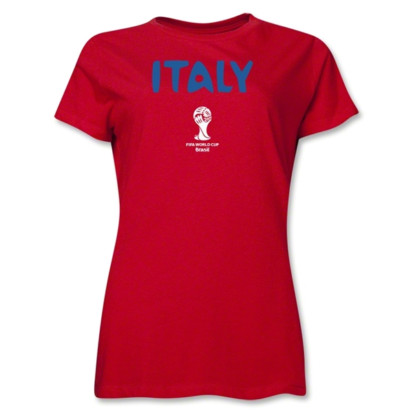 Italy 2014 FIFA World Cup Brazil(TM) Women's Core T-Shirt (Red)