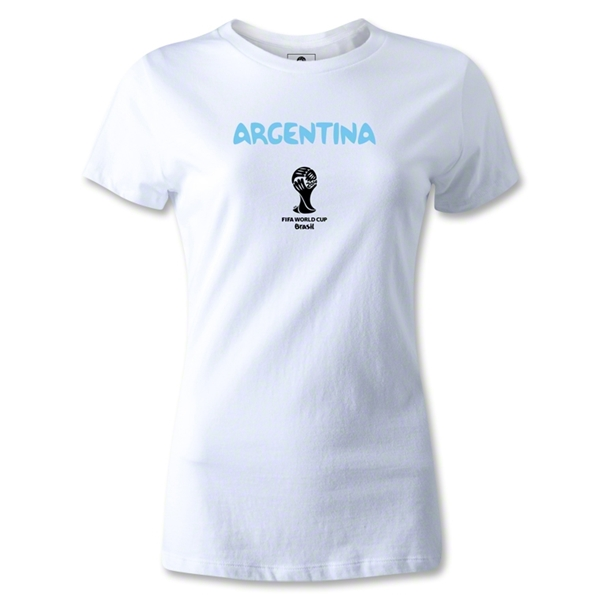 Argentina 2014 FIFA World Cup Brazil(TM) Women's Core T-Shirt (White)