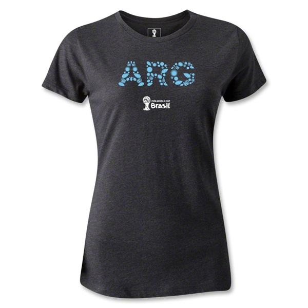 Argentina 2014 FIFA World Cup Brazil(TM) Women's Elements T-Shirt (Dark Grey)