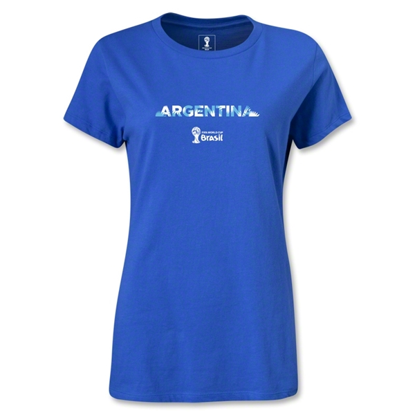 Argentina 2014 FIFA World Cup Brazil(TM) Women's Palm T-Shirt (Royal)