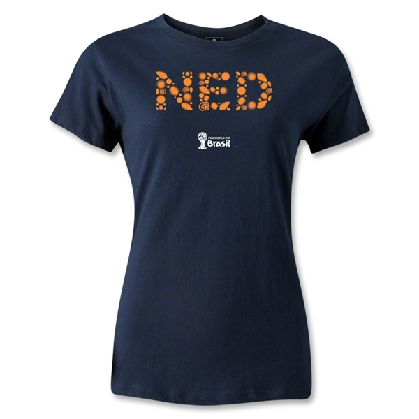 Netherlands 2014 FIFA World Cup Brazil(TM) Women's Elements T-Shirt (Navy)