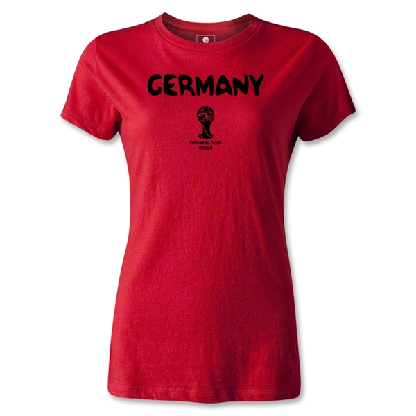 Germany 2014 FIFA World Cup Brazil(TM) Women's Core T-Shirt (Red)
