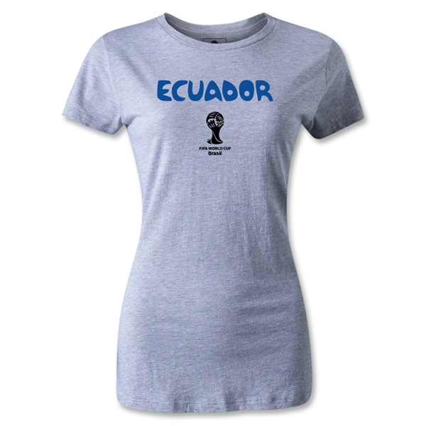 Ecuador 2014 FIFA World Cup Brazil(TM) Women's Core T-Shirt (Grey)