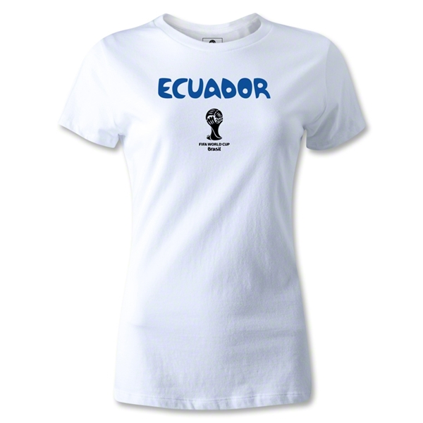Ecuador 2014 FIFA World Cup Brazil(TM) Women's Core T-Shirt (White)