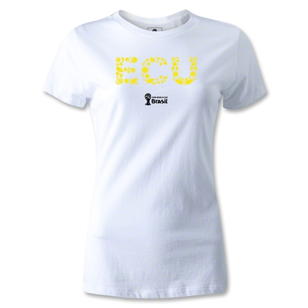 Ecuador 2014 FIFA World Cup Brazil(TM) Women's Elements T-Shirt (White)