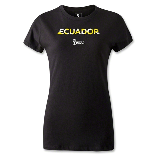 Ecuador 2014 FIFA World Cup Brazil(TM) Women's Palm T-Shirt (Black)