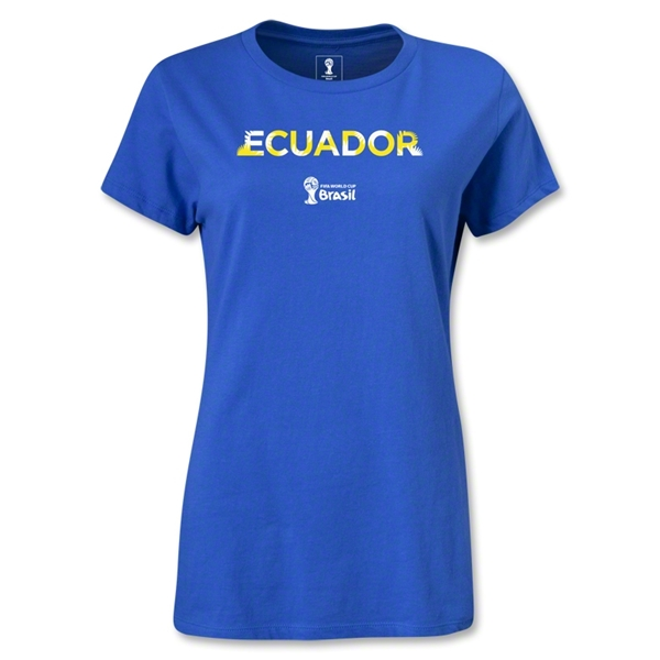 Ecuador 2014 FIFA World Cup Brazil(TM) Women's Palm T-Shirt (Royal)