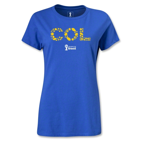 Colombia 2014 FIFA World Cup Brazil(TM) Women's Elements T-Shirt (Royal)