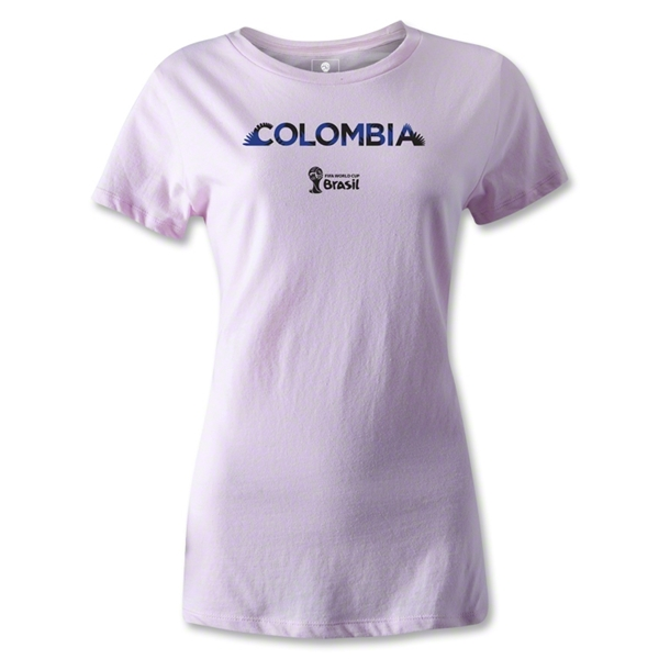 Colombia 2014 FIFA World Cup Brazil(TM) Women's Palm T-Shirt (Pink)
