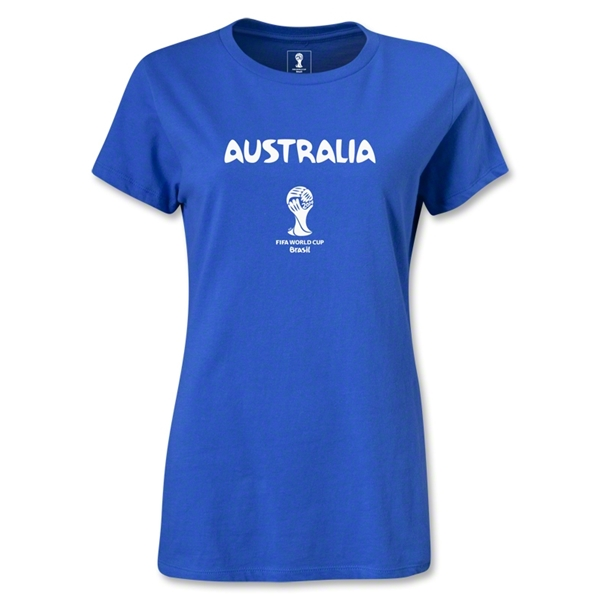 Australia 2014 FIFA World Cup Brazil(TM) Women's Core T-Shirt (Royal)