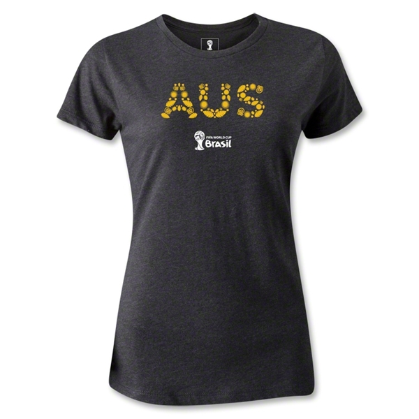 Australia 2014 FIFA World Cup Brazil(TM) Women's Elements T-Shirt (Dark Gray)