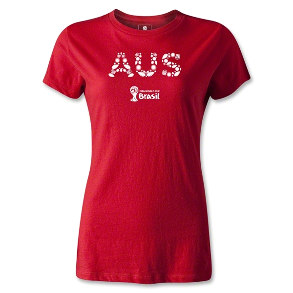 Australia 2014 FIFA World Cup Brazil(TM) Women's Elements T-Shirt (Red)