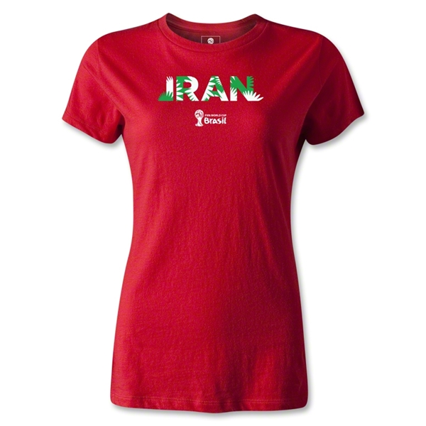 Iran 2014 FIFA World Cup Brazil(TM) Women's Palm T-Shirt (Red)