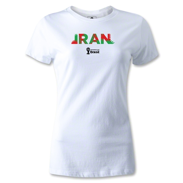 Iran 2014 FIFA World Cup Brazil(TM) Women's Palm T-Shirt (White)
