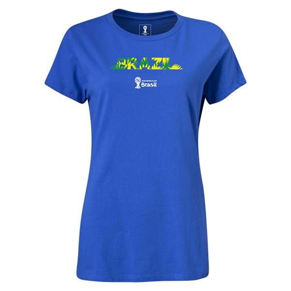 Brazil 2014 FIFA World Cup Brazil(TM) Women's T-Shirt (Royal)