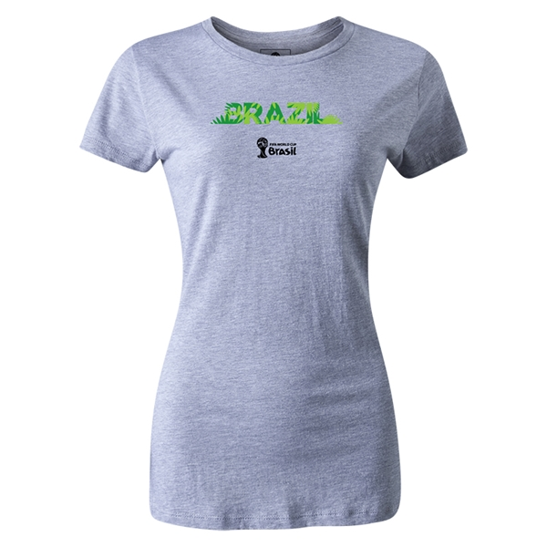 Brazil 2014 FIFA World Cup Brazil(TM) Women's T-Shirt (Gray)