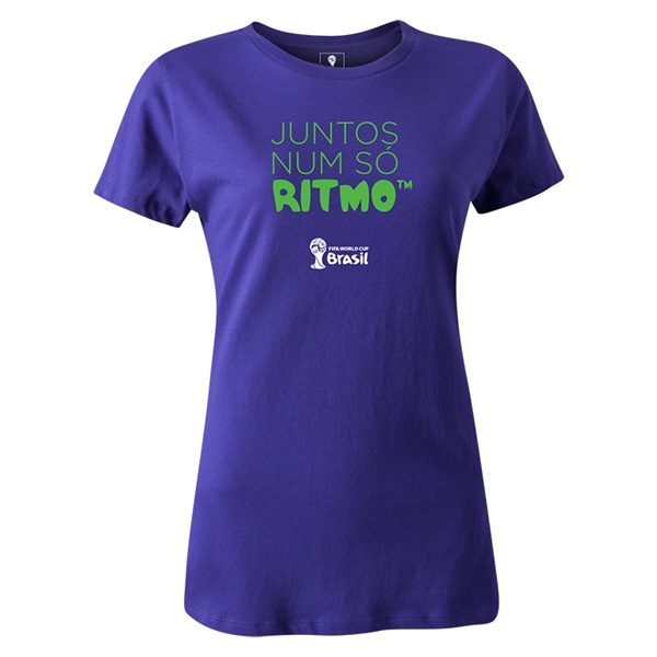2014 FIFA World Cup Brazil(TM) Women's Portugese All In One Rhythm T-Shirt (Purple)
