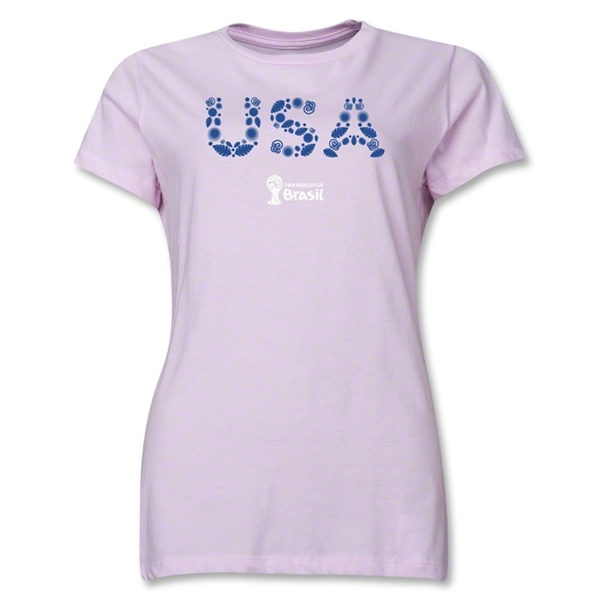 USA 2014 FIFA World Cup Brazil(TM) Women's Elements T-Shirt (Pink)