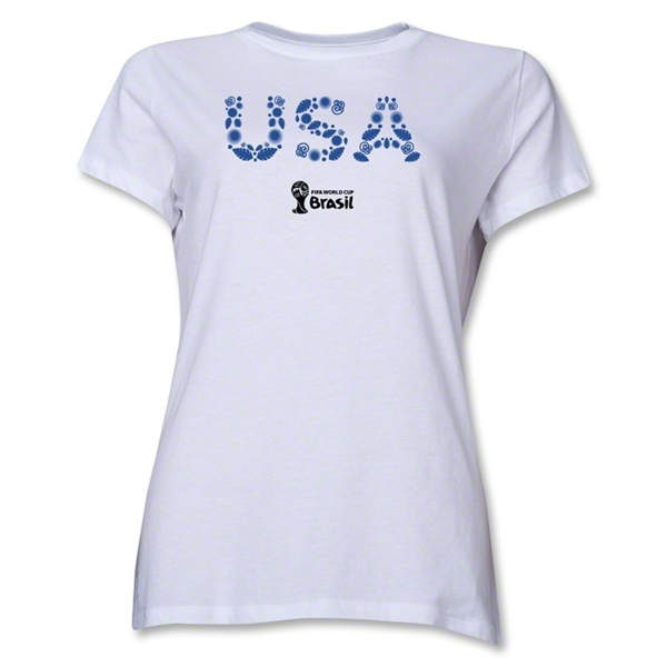 USA 2014 FIFA World Cup Brazil(TM) Women's Elements T-Shirt (White)