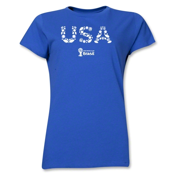USA 2014 FIFA World Cup Brazil(TM) Women's Elements T-Shirt (Royal)