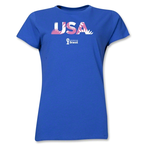USA 2014 FIFA World Cup Brazil(TM) Women's Palm T-Shirt (Royal)