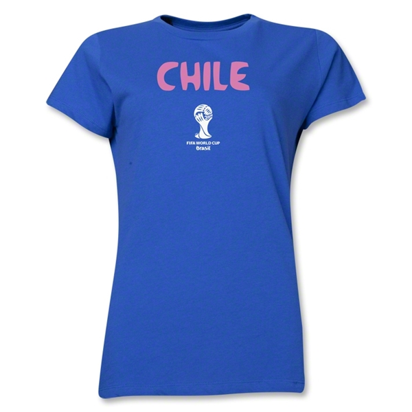 Chile 2014 FIFA World Cup Brazil(TM) Women's Core T-Shirt (Royal)