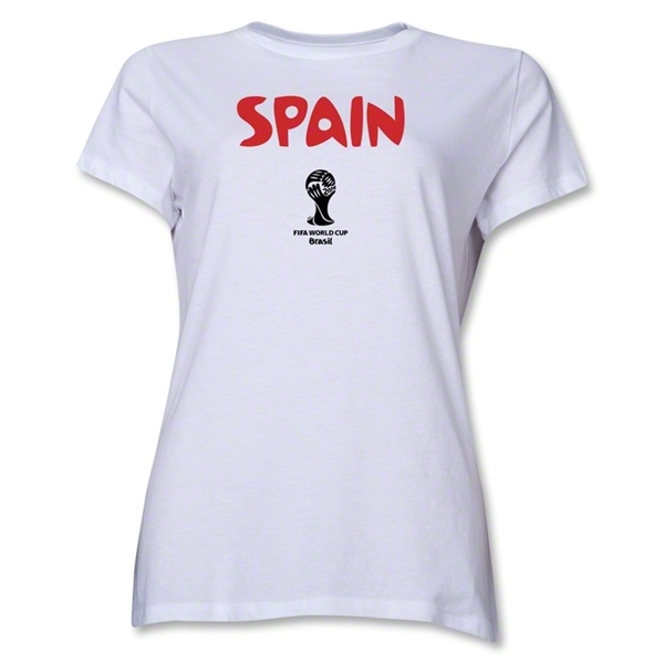Spain 2014 FIFA World Cup Brazil(TM) Women's Core T-Shirt (White)