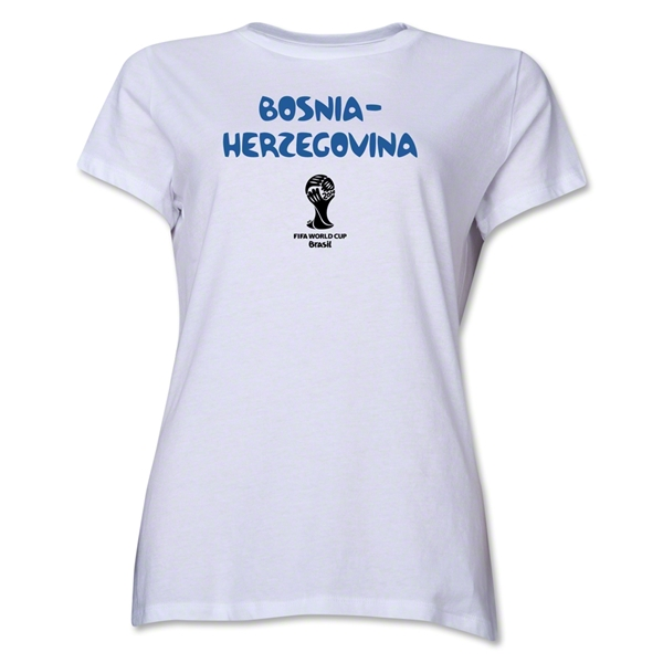 Bosnia-Herzegovina 2014 FIFA World Cup Brazil(TM) Women's Core T-Shirt (White)