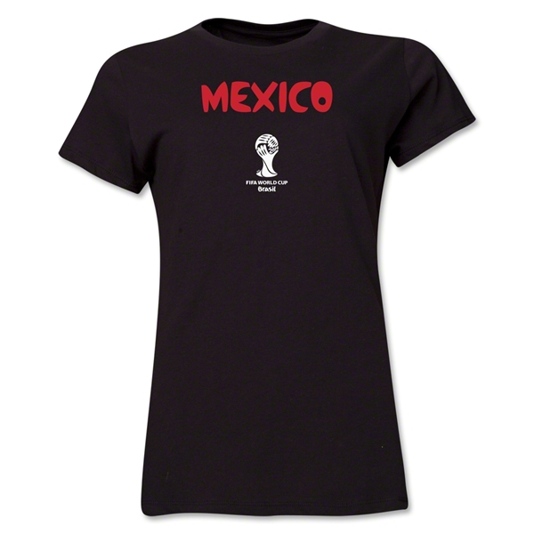 Mexico 2014 FIFA World Cup Brazil(TM) Women's Core T-Shirt (Black)