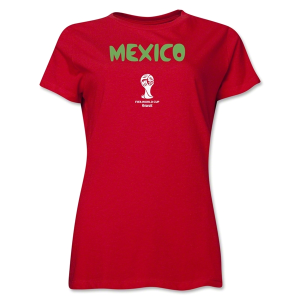 Mexico 2014 FIFA World Cup Brazil(TM) Women's Core T-Shirt (Red)