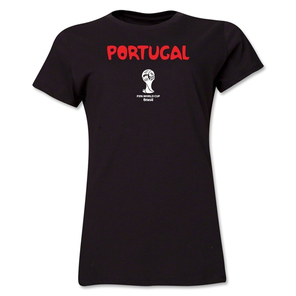 Portugal 2014 FIFA World Cup Brazil(TM) Women's Core T-Shirt (Black)