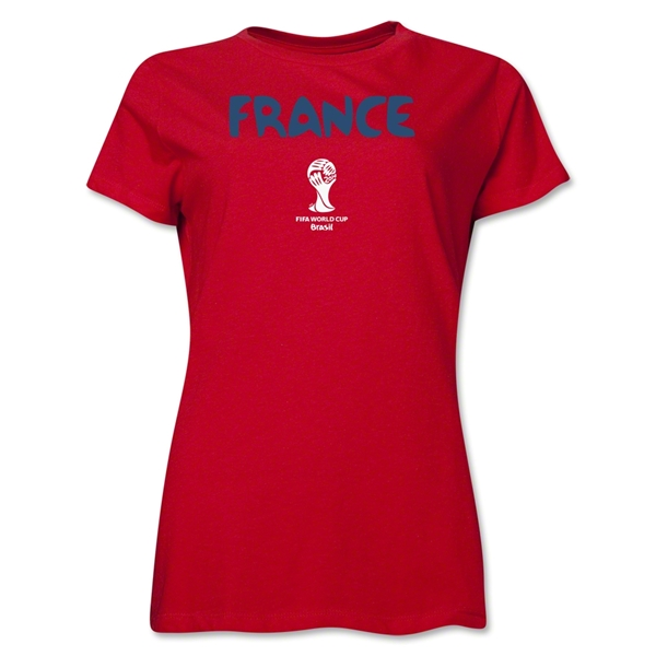 France 2014 FIFA World Cup Brazil(TM) Women's Core T-Shirt (Red)
